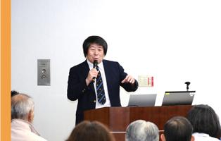 「腸の働きと腸内細菌」と題した医師の講演